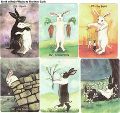rabbit-themed Tarot cards.