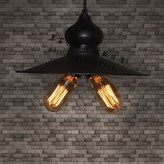 48.00$  Watch here - http://aliz9x.worldwells.pw/go.php?t=2006654179 - Edison Vintage Style Metal Black Double-end  Ceiling Pendant  Lamp Industrial E27 48.00$