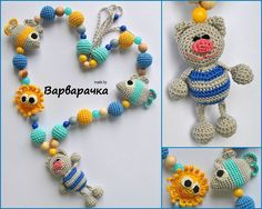 #Nursingnecklace #Breastfeeding necklace with #amigurumi #pussycat