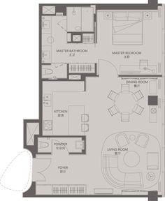 Standard Suites Unit G _ Four Seasons Place Pudong