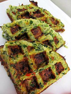 Zucchini-Potato Hash Brown Waffles