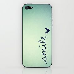 s    m    i    l    e  iPhone & iPod Skin by rubybirdie - $15.00 #iPhone