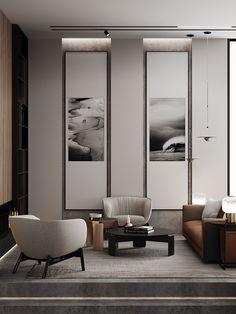 Hybrid space on Behance Luxury Interior, Room Interior, Home Interior Design, Home Living Room, Living Room Designs, Living Spaces, Chinese Interior, Living Room Decor Inspiration, Interior Concept