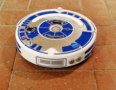 The R2D2 Custom Roomba is a vinyl set for customizing your Roomba cleaning robot.