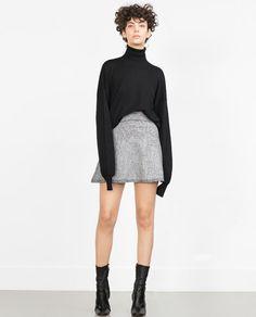 Image 1 of FLARED MINISKIRT from Zara