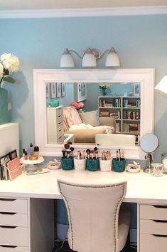 Makeup Room Ideas room DIY (Makeup room decor) Makeup Storage Ideas For Small Space - TAG: Diy Makeup vanity ideas, Diy makeup storage ideas, Makeup organization diy, Makeup desk Decor, Room, Interior, Home, Beauty Room, Bedroom Design, Interior Design, Dream Rooms, New Room