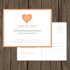 Holding Hands Modern Wedding Save the Date postcard by ©MalloryHopeDesign