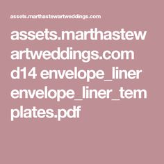 A Square Flap Envelope Liner Template  Wedding Items