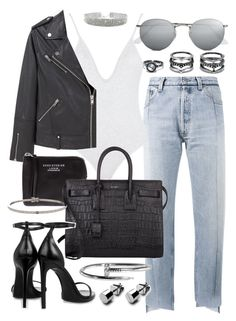 """""""Untitled #20267"""" by florencia95 ❤ liked on Polyvore featuring Vetements, MANGO, Ray-Ban, LULUS, Acne Studios and Yves Saint Laurent"""
