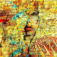 """Damned if I do"". And I did. #art #painting #mixedmedia #artforsale #prints #printsforsale #lanadelrey"