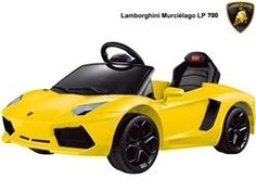 Rastar Kids Play Vehicles Lamborghini Aventador LP700-4 6v Yellow (Remote Controlled) $ 214.00 Play Vehicles Product Features Motor: 1 x 6 Volt 25 Watt. Batteries: 1 x 6 Volt 7 Amp Rechargeable Battery. Speed: 3 MPH (Forward & Reverse). Run Time: up to 1.5 hours. Suggested Max Weight: 55 lbs. Suggested Age: 3-4 years old. Charger Included. Wireless Remote Control. Front Lights and Turn Signals. Key […] http://www.toysrgames.com/rastar-kids-play-vehicles-lamborghi..
