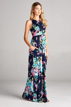 From the Ground Up Floral Maxi Dress – The Laguna Room