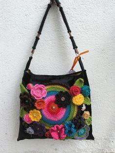 crocheted flowers on it <3