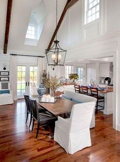 enjoy a meal with family and friends in the open airy hgtv dream home 2015 dining room