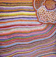 Aboriginal Art Exhibition | Summer Shades | at Muk Muk Fine Art Gallery BrisbaneTali (My Country) A15914 Eunice Napanangka Jack Size: 150 x 150cm Acrylic on Linen $11,500
