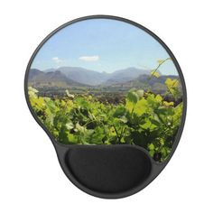 A vineyard in front of mountains in Franschhoek Gel Mouse Mat #franschhoek #zazzle #southafrica #vineyards