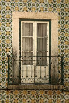 Lisbon, Portugal - beautiful exterior tile