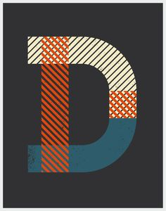 Vintage Type Posters by Cailen Guhl, via Behance