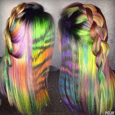 Lisa Frank hair creation #arcticfox