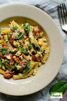 Fusilli, Rigatoni, Pasta Recipes, Pasta Salad, Bacon, Ethnic Recipes, Food, Crab Pasta Salad, Essen
