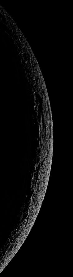 Crescent Dione from Cassini, October 11, 2005. Credit: NASA / Jet Propulsion Laboratory / Space Science Institute