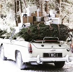 If you love new inspiration for the Christmas Holiday, this post is going to give you an awesome outline of what's trending in Christmas Decorations Driving Home For Christmas, Christmas Car, Little Christmas, All Things Christmas, White Christmas, Christmas Holidays, Christmas Decorations, Holiday Decor, Vintage Christmas