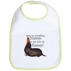Weighty Weiner Dog Bib - My Lily posed for this one