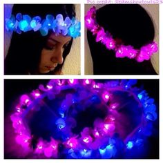 Mini 20 LED Light up Flower Crown for Festivals EDC by LaLaNala, $29.99