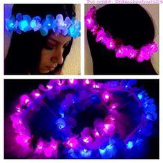 Mini 20 LED Light up Flower Crown for Festivals EDC by LaLaNala, $29.99