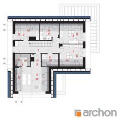 Dom w lobo Home Design Plans, Modern House Design, Larp, Planer, Pergola, Floor Plans, Exterior, How To Plan, House Styles