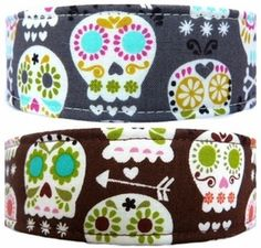 Sirius Republic Sugar Skulls Collar, our collars are handcrafted using cotton fabric, nylon webbing, and welded metal hardware.