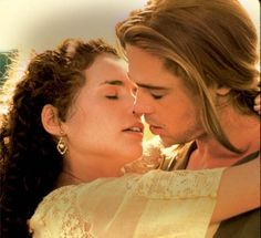 Brad Pitt and Julia Ormond in Legends of the Fall
