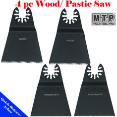MTP Tm 4 Japan Fine Wood Blade Quick Release Universal Fit Multi Tool Oscillating Multitool Saw Blade for Craftsman 20v Bolt-on Mm20 Rockwell Hyperlock Shopseies Fein Multimaster Porter Cable Black and Decker Bosch Milwaukee Makita Chicago Blue Hawk. 4 pc blades set (fine , course ), Manufacturer: MTP. Fit Most Quick Release system as well as old Hex Screw system. fit in Porter Cable, Rockwell Hyperlock, Bosch , Black and decker, Craftsman Bolt-on 20V. Please check product description for...