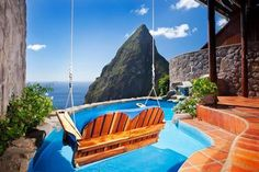 Open-wall Suites at Ladera in St. Lucia Thinking I need to go to St Lucia again!