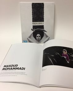 """Craft & Folk Art Museum; Focus Iran 2: Contemporary Photography and Video; Michelle Cho, Designer; 8.5"""" x 10,"""" 92 Pages + 4 Page Cover; 111 lb Endurance Recycled Velvet Cover, 100 lb Endurance Velvet Text; 4/4 CMYK throughout; Die Score, Soft Touch Matte Laminate 1 side, Silver Foil Stamp Cover; Perfect Bind, Trim to Size"""