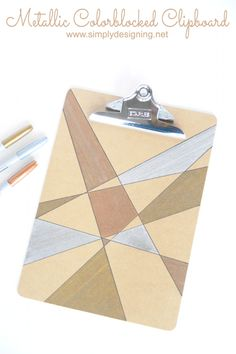 Metallic Colorblocked Clipboard Craft Idea by Simply Designing