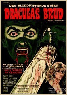 Brides of Dracula. Hammer Horror Films, Sci Fi Horror Movies, Hammer Films, Classic Horror Movies, Horror Art, Hammer Movie, Horror Movie Posters, Movie Poster Art, Film Posters