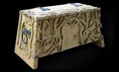 Replica of a c. Viking Life, Viking Art, Larp, Medieval Furniture, Viking Designs, Viking Clothing, Norse Vikings, Asatru, Wood Stone