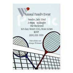 Badminton Party / Picnic Invite