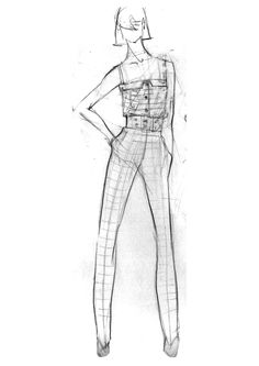 Fashion Illustration Sketch from  http://www.fashionportfolioacademy.com/blog/category/fashion%20illustration