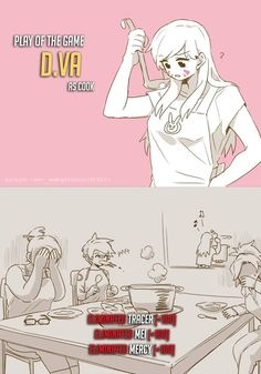 Overwatch - D.VA as a chef
