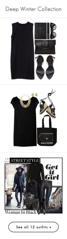 """""""Deep Winter Collection"""" by sumcmebyme ❤ liked on Polyvore featuring Alexander Wang, Prada, Givenchy, Zara, NARS Cosmetics, Alexander McQueen, Yves Saint Laurent, BCBGMAXAZRIA, Witchery and polyvoretotebagcontest"""