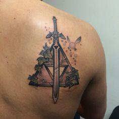 Zelda Sword of Power Tattoo. Tattooed by Noelle LaMonica Divine Machine Tattoo Buffalo NY