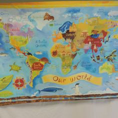 Our World Stretched Canvas - $100.00