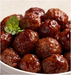 Recipe For Easy Party BBQ Meatballs - CrockpotI make these all the time for parties, get-togethers, etc etc. It's just so simple and everyone requests the recipe, just tell them it's a secret ingredient! Also works great with Lil Smokies Sausages.