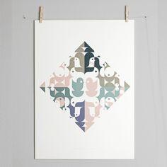 El Chopo fra Paper Collective - kunstplakat