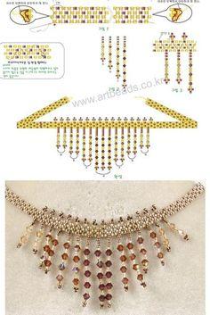 Beautiful necklace free pattern.
