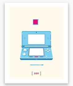 Nintendo Minimalist H Series: Nintendo 3DS Poster (11 x 14)