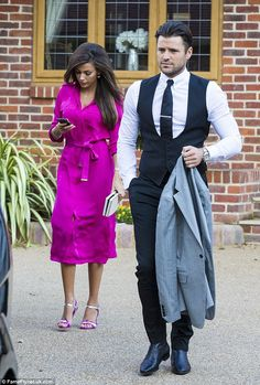 Michelle Keegan and Mark Wright stepped out on Monday afternoon ahead of attending the TV Choice Awards in London Michelle Keegan Style, Mark Wright, Choice Awards, Brunette Hair, Frocks, Dapper, Coronation Street, Hot Pink, Summer Outfits