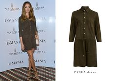 Modern approach: shop our olive suede Parea dress and master your casual look! Now in our boutiques! #LaMania #Suede